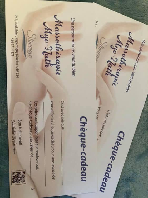 Certificats Cadeaux Disponibles